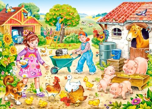 Farm - 35pc Jigsaw Puzzle by Castorland