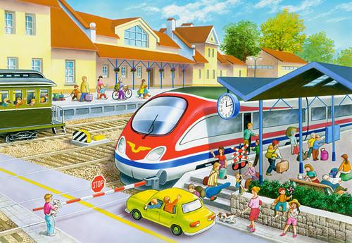 Railway Station - 40pc Jigsaw Puzzle by Castorland