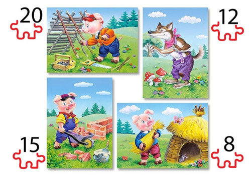 Three Little Pigs - 55pc Multipack Jigsaw Puzzle by Castorland