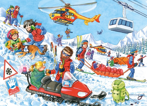 Mountain Rescue - 60pc Jigsaw Puzzle by Castorland
