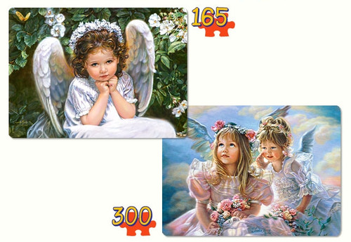 Sweet Angels - 300pc Multipack Jigsaw Puzzle by Castorland