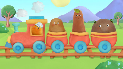 Small Potatoes: Train - 24pc Fuzzy Puzzle by Ceaco