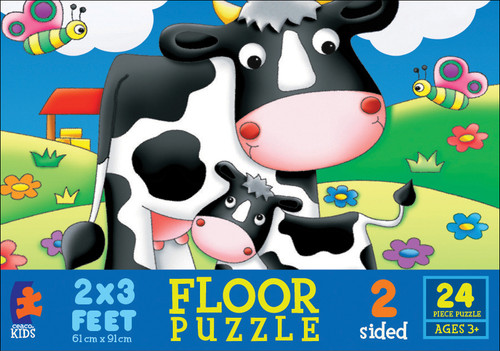 Life on the Farm - 24pc Double-Sided Floor Puzzle by Ceaco