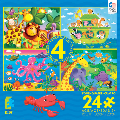 Kids 4 in 1: Animals #1 - 24pc Multi-Puzzle Set by Ceaco