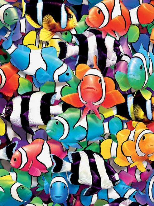 Colors: Humbug & Clowns - 550pc Jigsaw Puzzle by Ceaco