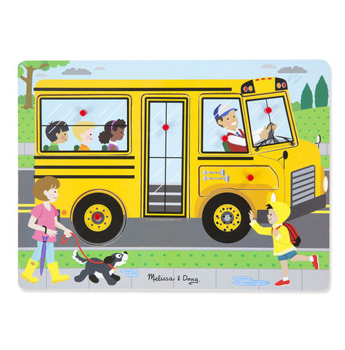The Wheels on the Bus - 6pc Sound Puzzle by Melissa & Doug