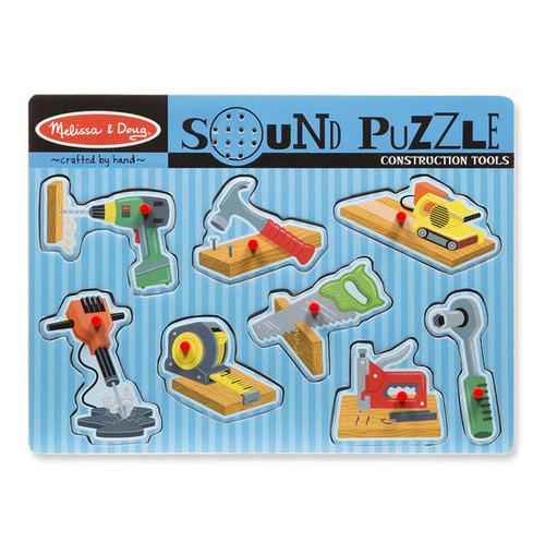 Construction Tools - 8pc Sound Puzzle by Melissa & Doug