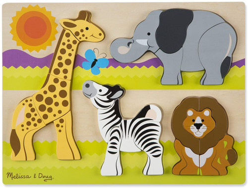 Chunky 4-in-1 Puzzle: Safari - 20pc Chunky Puzzle by Melissa & Doug