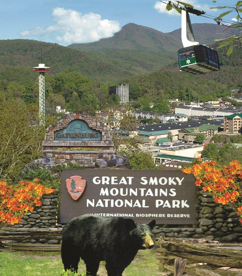 Gatlinburg, Tennessee - 300pc Large Format Jigsaw Puzzle by SunsOut
