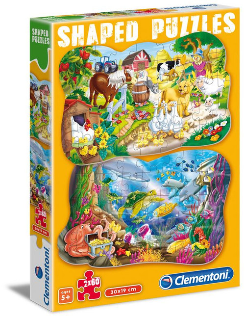 Funny Animals Multipack - 60pc Shaped Puzzle by Clementoni