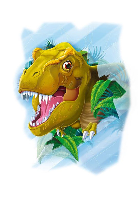 Window Puzzle: T-Rex - 60pc 2-sided Puzzle by Clementoni
