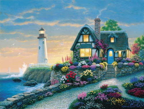 Richard Burns: Lighthouse Overlook - 1000pc Jigsaw Puzzle by Clementoni