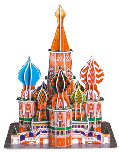 St. Basil's Cathedral - 47pc 3D Puzzle by CubicFun