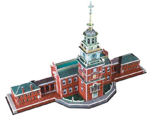 Independence Hall - 43pc 3D Puzzle by CubicFun