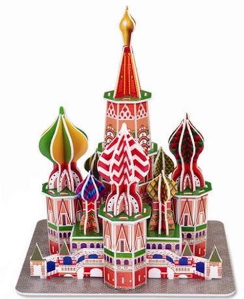 St. Basil's Cathedral - 46pc 3D Puzzle by Magic Puzzle