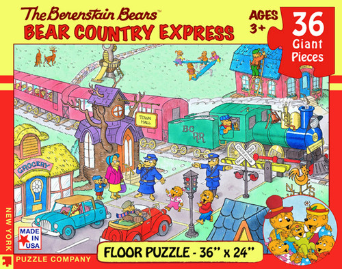 The Berenstain Bears: Bear Country Express - 36pc Floor Puzzle by New York Puzzle Company