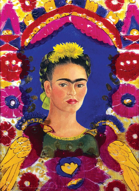 Frida Kahlo: Self Portrait The Frame - 1000pc Jigsaw Puzzle by Eurographics
