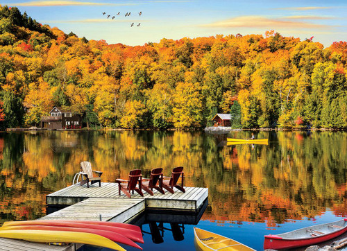 Lakeside Cottage, Quebec - 1000pc Jigsaw Puzzle by Eurographics