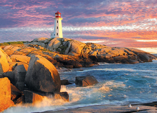 Peggy's Cove Lighthouse. Nova Scotia - 1000pc Jigsaw Puzzle by Eurographics