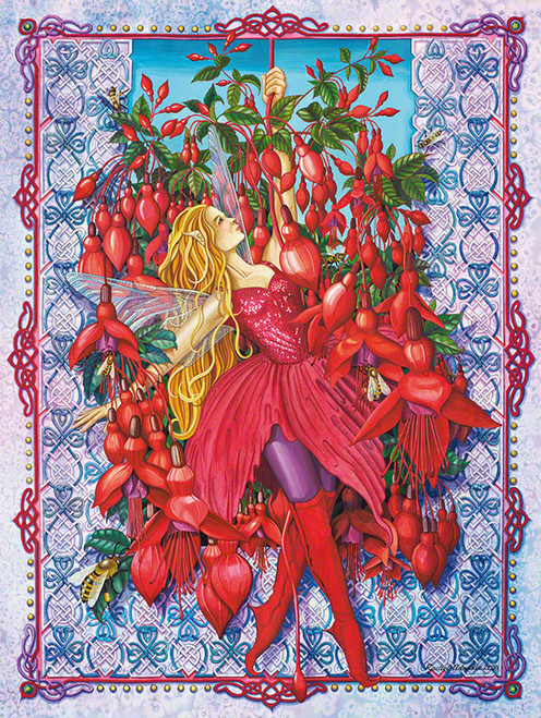 Fuchsia Fairy - 1000pc Jigsaw Puzzle by Purrfect Puzzles