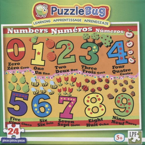 Numbers - 24pc Educational Jigsaw Puzzle by Lafayette Puzzle Factory