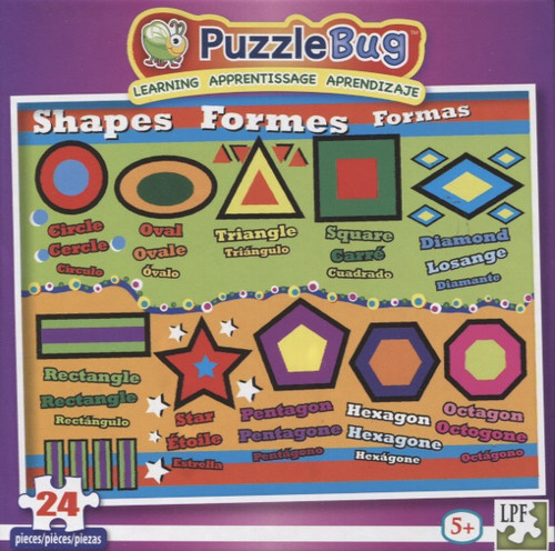 Shapes - 24pc Educational Jigsaw Puzzle by Lafayette Puzzle Factory
