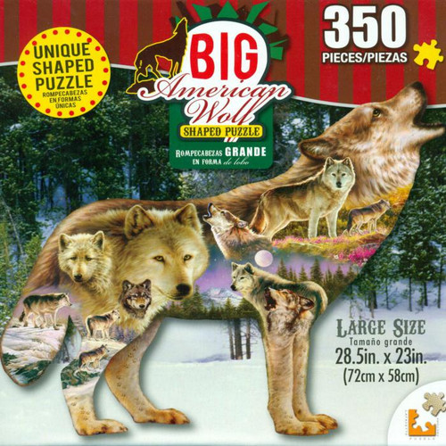 Wolf Connections - 350pc Shaped Jigsaw Puzzle by Lafayette Puzzle Factory