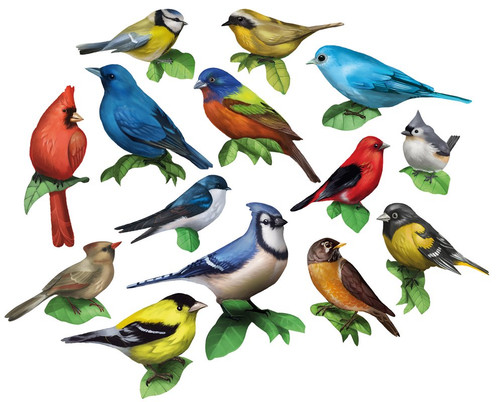 Songbirds I - 500pc Multipack Shaped Mini Jigsaw Puzzle by Lafayette Puzzle Factory