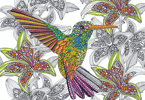 Hummingbird - 300pc Coloring Jigsaw Puzzle by Educa