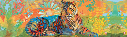 South China Tiger - 750pc Panoramic Puzzle by Lang