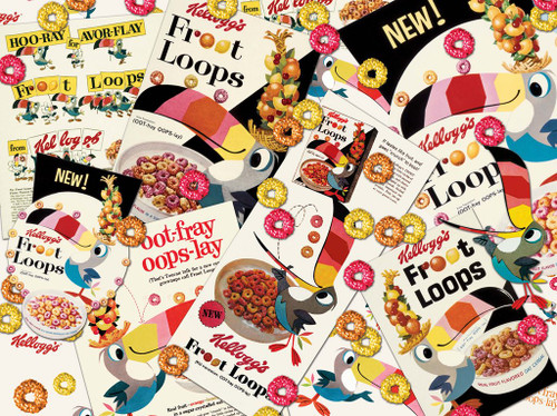Vintage Kelloggs: Retro Froot Loops - 1000pc Jigsaw Puzzle by Karmin