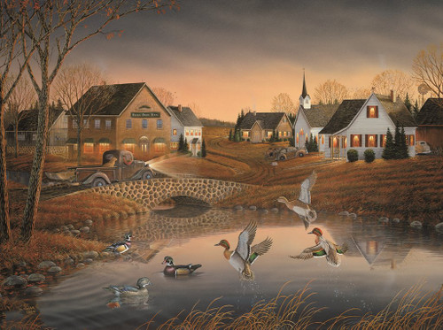 Sam Timm: Country Village - 1000pc Jigsaw Puzzle by Karmin