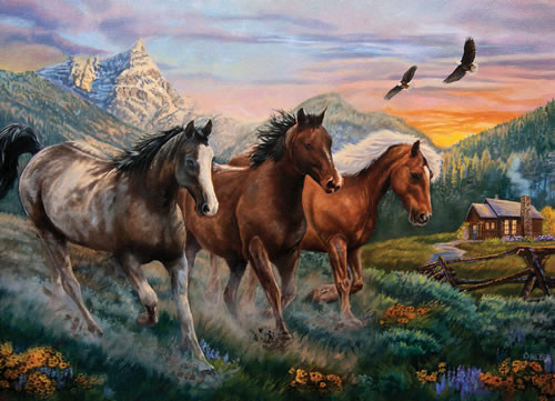 High Country Run - 1000pc Jigsaw Puzzle by Willow Creek Press