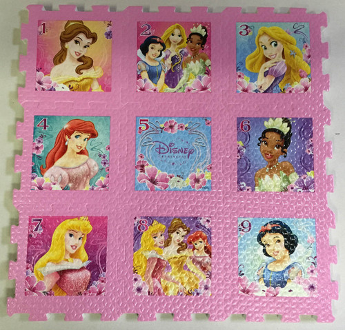 Disney Princesses - 9pc Foam Floor Puzzle by What Kids Want
