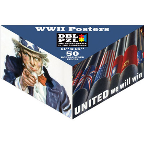 WWII Posters - 50pc Double-Sided Jigsaw Puzzle by DBL PZL