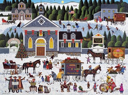 Churchyard Christmas - 1000pc Jigsaw Puzzle by Buffalo Games