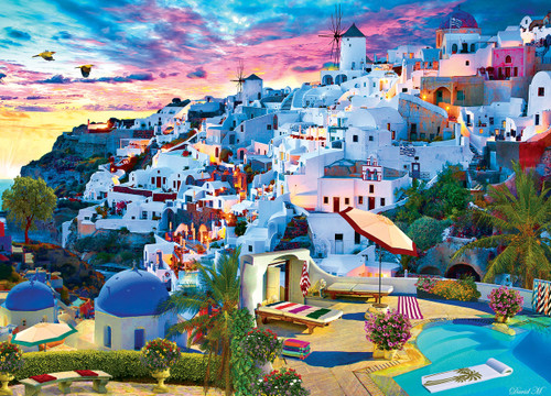 Colorscapes: Santorini Sky - 1000pc Jigsaw Puzzle by Masterpieces
