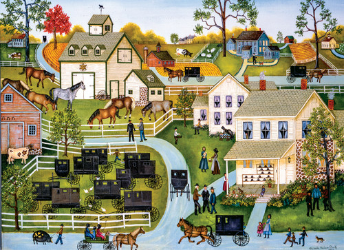 Hometown Gallery: Sunday Meeting - 1000pc Jigsaw Puzzle by Masterpieces