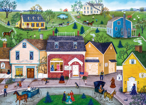 Hometown Gallery: The Dress Shop - 1000pc Jigsaw Puzzle by Masterpieces