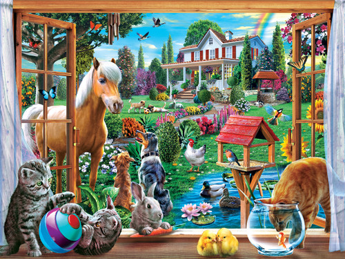 Peeking Through - 400pc Family Style Jigsaw Puzzle by Masterpieces