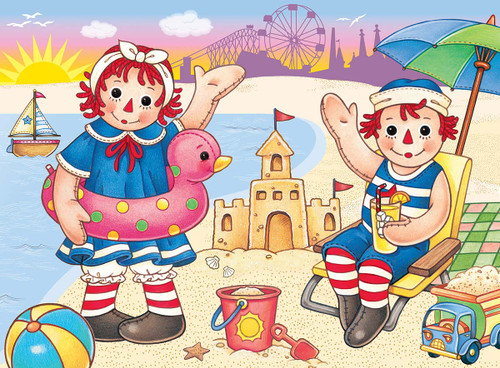Raggedy Ann & Andy: Beach Fun - 24pc Jigsaw Puzzle By Masterpieces