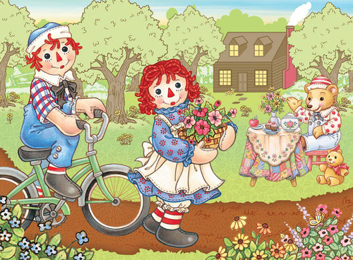 Raggedy Ann & Andy: Bike Ride - 60pc Jigsaw Puzzle By Masterpieces