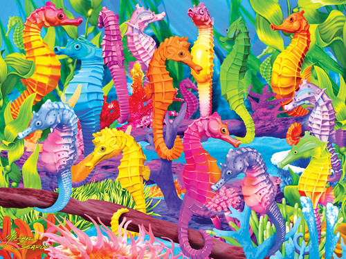 Singing Seahorses - 60pc Glow-in-the-Dark Jigsaw Puzzle by Masterpieces