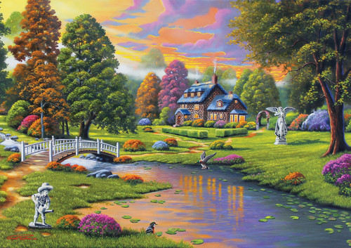 Cottage Creek - 300pc Large Format Jigsaw Puzzle By Buffalo Games