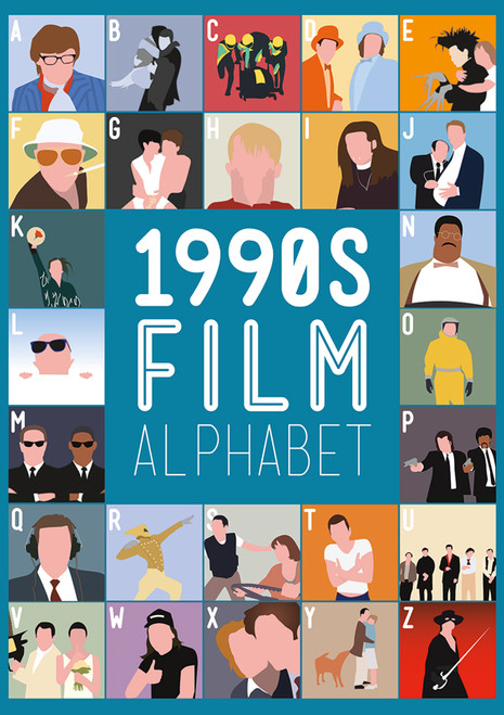 1990's Film Alphabet - 300pc Large Format Jigsaw Puzzle by Buffalo Games