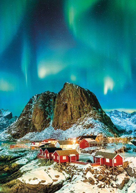 Earthpix: Norway Aurora - 500pc Jigsaw Puzzle by Buffalo Games