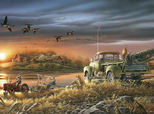 Terry Redlin: Patiently Waiting - 1000pc Jigsaw Puzzle by Buffalo Games
