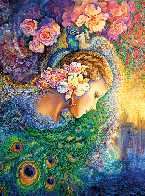 Josephine Wall: Peacock Daze - 1000pc Jigsaw Puzzle By Buffalo Games