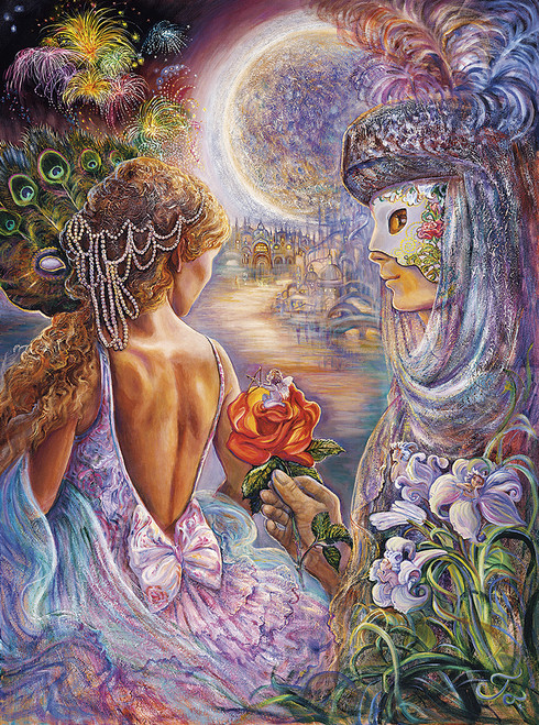 Josephine Wall: Masque of Love (Glitter Edition) - 1000pc Jigsaw Puzzle By Buffalo Games