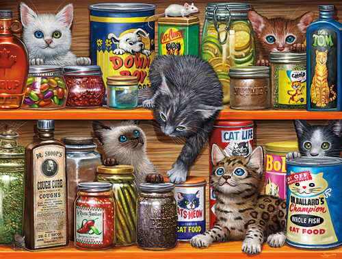 Spice Rack Kittens - 750pc Jigsaw Puzzle by Buffalo Games